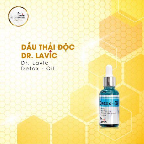 Dr.Lavic Detox oil giúp phục hồi da nhanh chóng, giảm sưng viêm với bệnh viêm nang lông