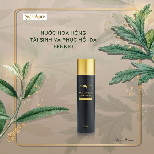 Nước hoa hồng tái sinh & phục hồi da Sennio - Sennio Perfect Skin Softner