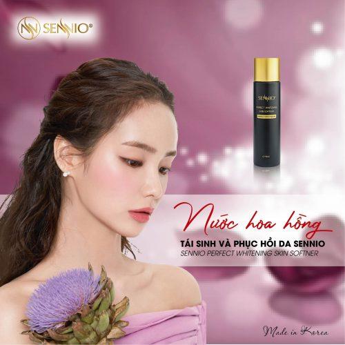 Nước hoa hồng tái sinh & phục hồi da Sennio - Sennio Perfect Skin Softner là sản phẩm hoàn hảo
