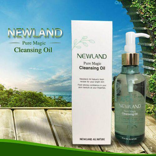 Newland Pure Magic Cleansing Oil – Dầu Tẩy Trang Newland giúp nhẹ nhàng làm sạch lớp trang điểm, dầu nhờn và bụi bẩn trên da một cách hiệu quả